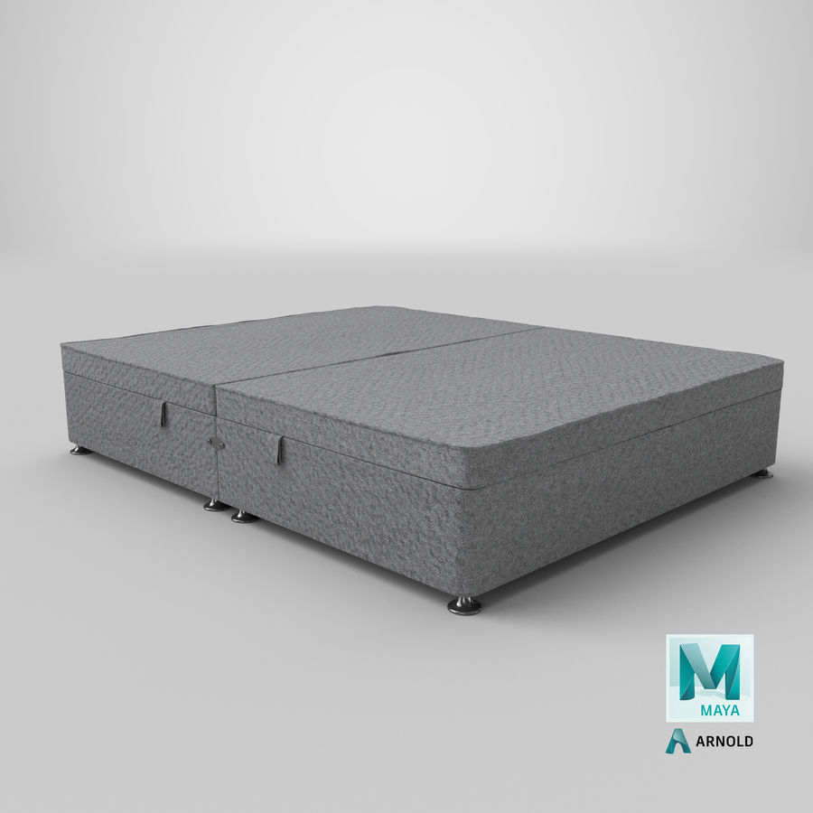 Bed Base 07 Grey royalty-free 3d model - Preview no. 26