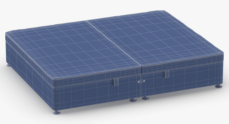 Bed Base 07 Grey royalty-free 3d model - Preview no. 11