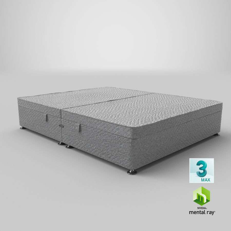 Bed Base 07 Grey royalty-free 3d model - Preview no. 24