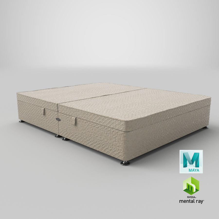 Bed Base 07 Oatmeal royalty-free 3d model - Preview no. 27