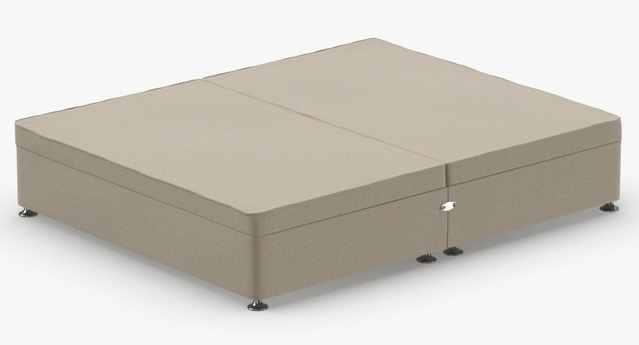 Bed Base 07 Oatmeal royalty-free 3d model - Preview no. 6