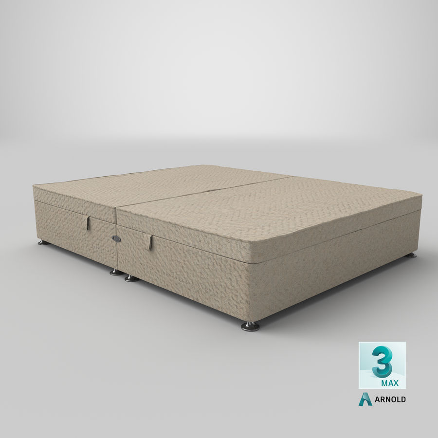 Bed Base 07 Oatmeal royalty-free 3d model - Preview no. 23