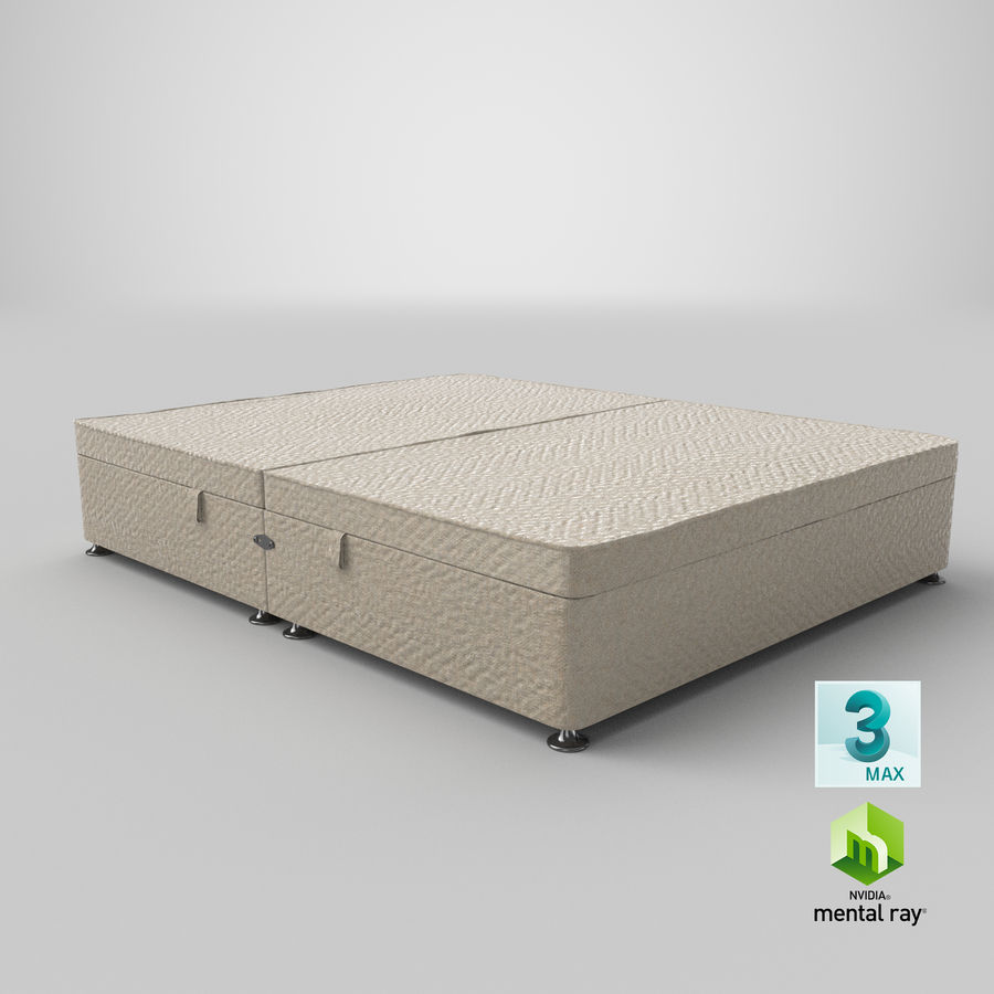 Bed Base 07 Oatmeal royalty-free 3d model - Preview no. 24