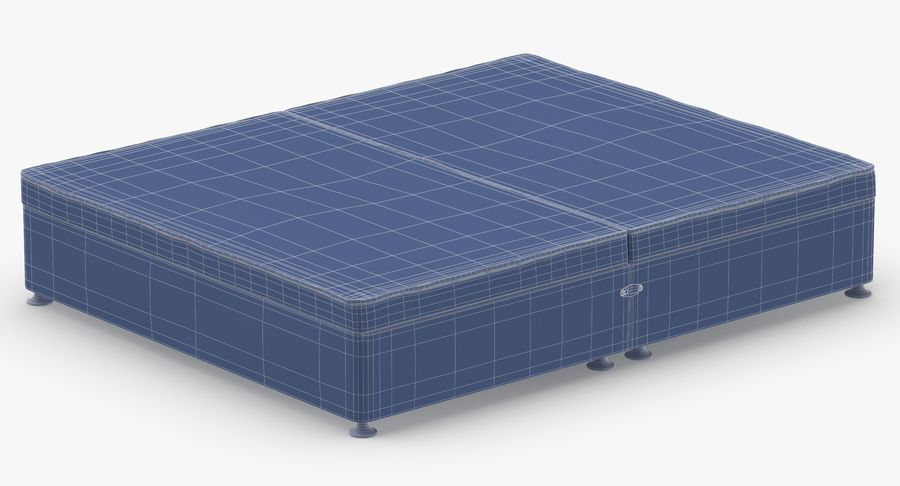 Bed Base 07 Oatmeal royalty-free 3d model - Preview no. 15