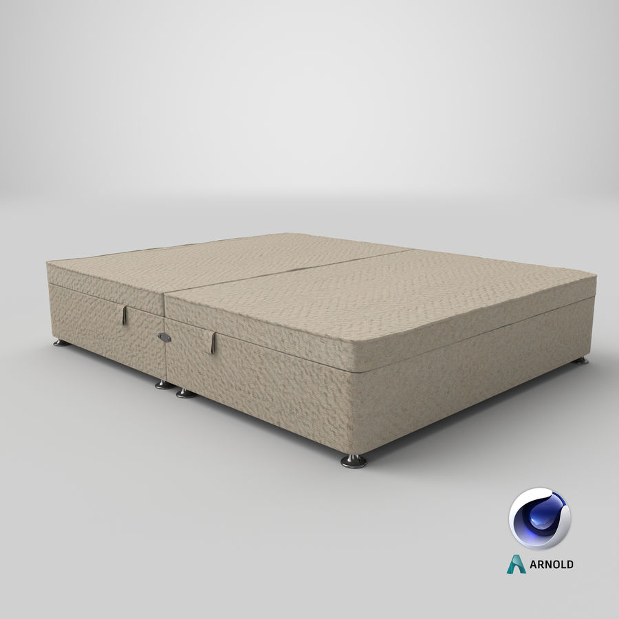 Bed Base 07 Oatmeal royalty-free 3d model - Preview no. 22