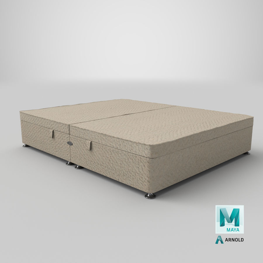 Bed Base 07 Oatmeal royalty-free 3d model - Preview no. 26