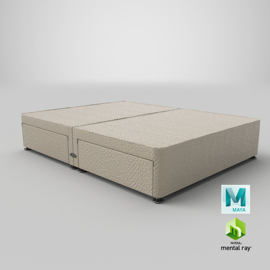 Bed Base 09 Oatmeal royalty-free 3d model - Preview no. 27