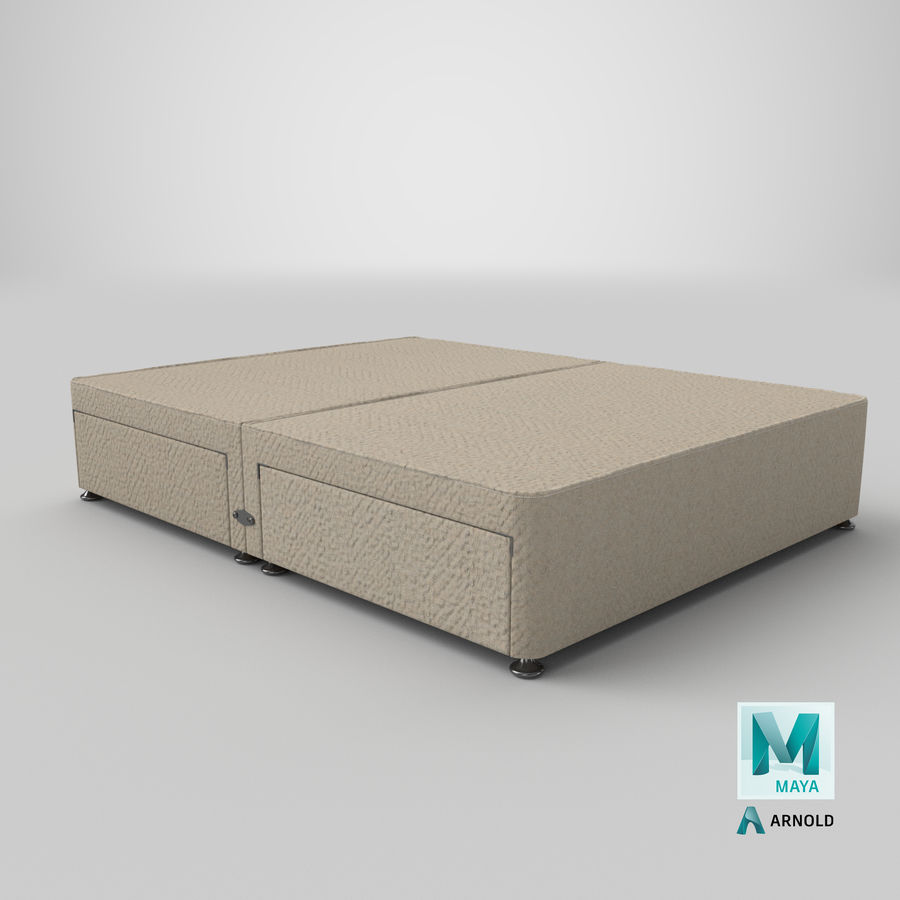 Bed Base 09 Oatmeal royalty-free 3d model - Preview no. 26