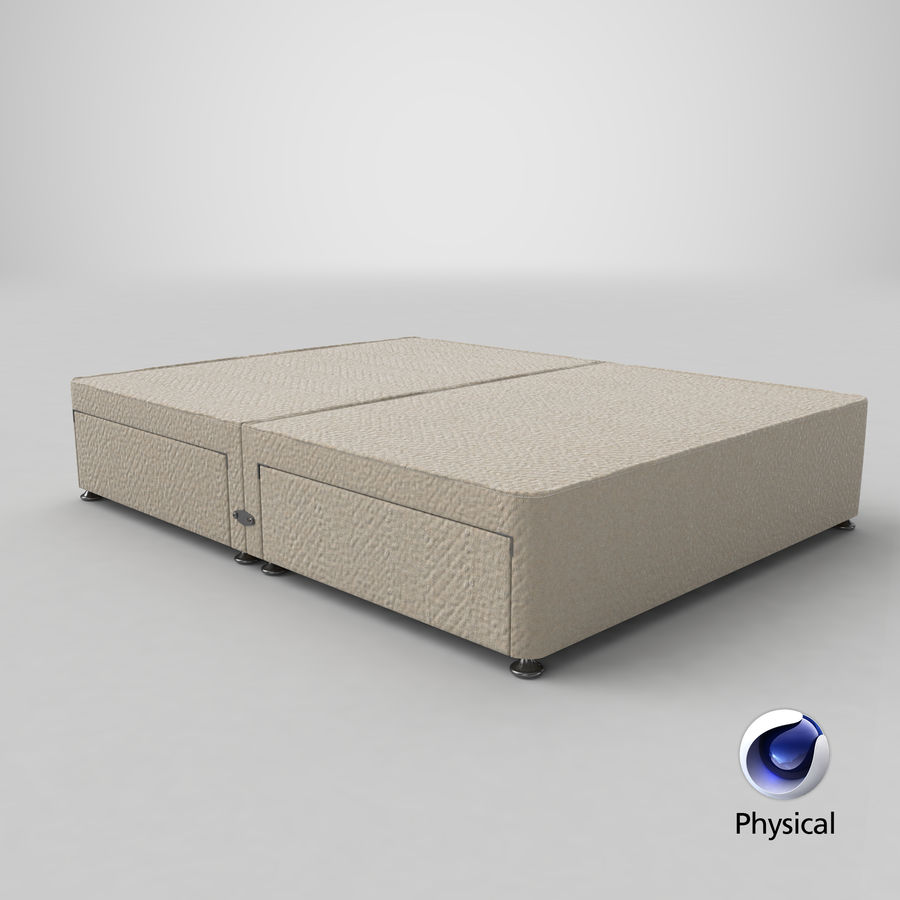 Bed Base 09 Oatmeal royalty-free 3d model - Preview no. 21