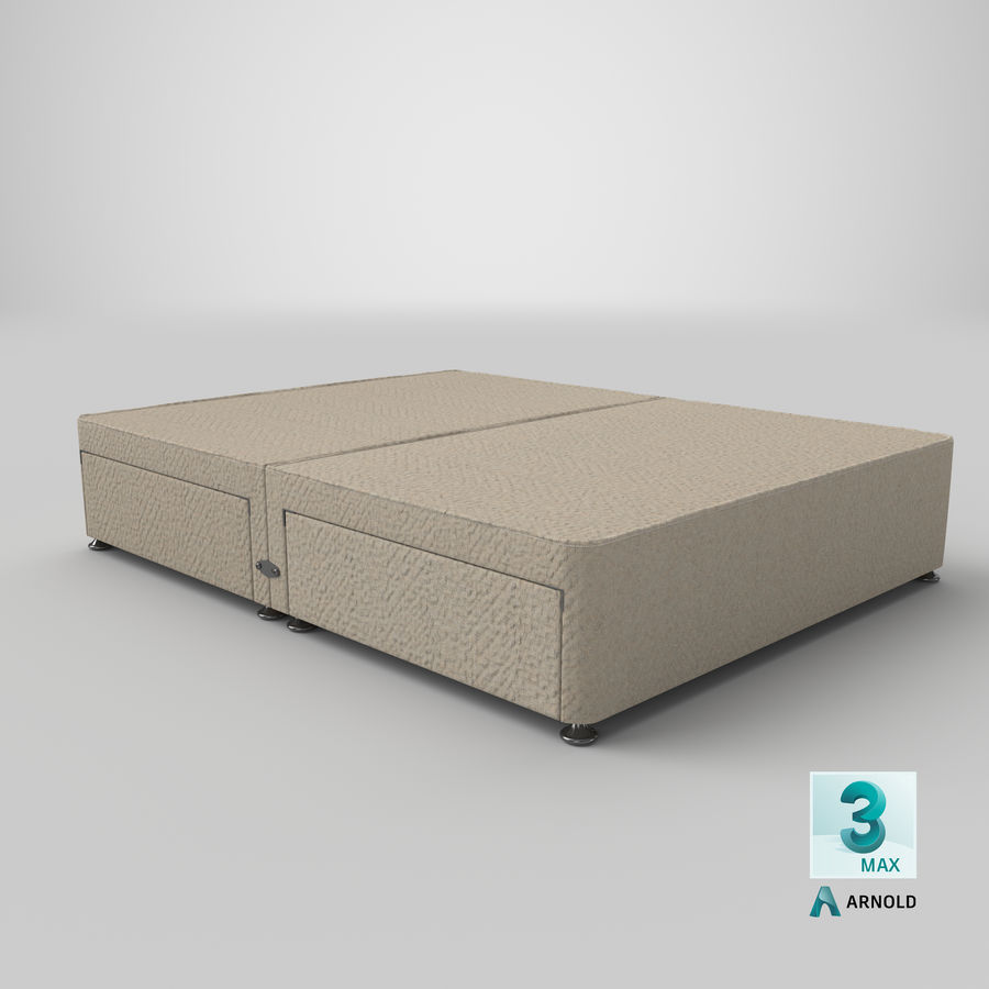 Bed Base 09 Oatmeal royalty-free 3d model - Preview no. 23