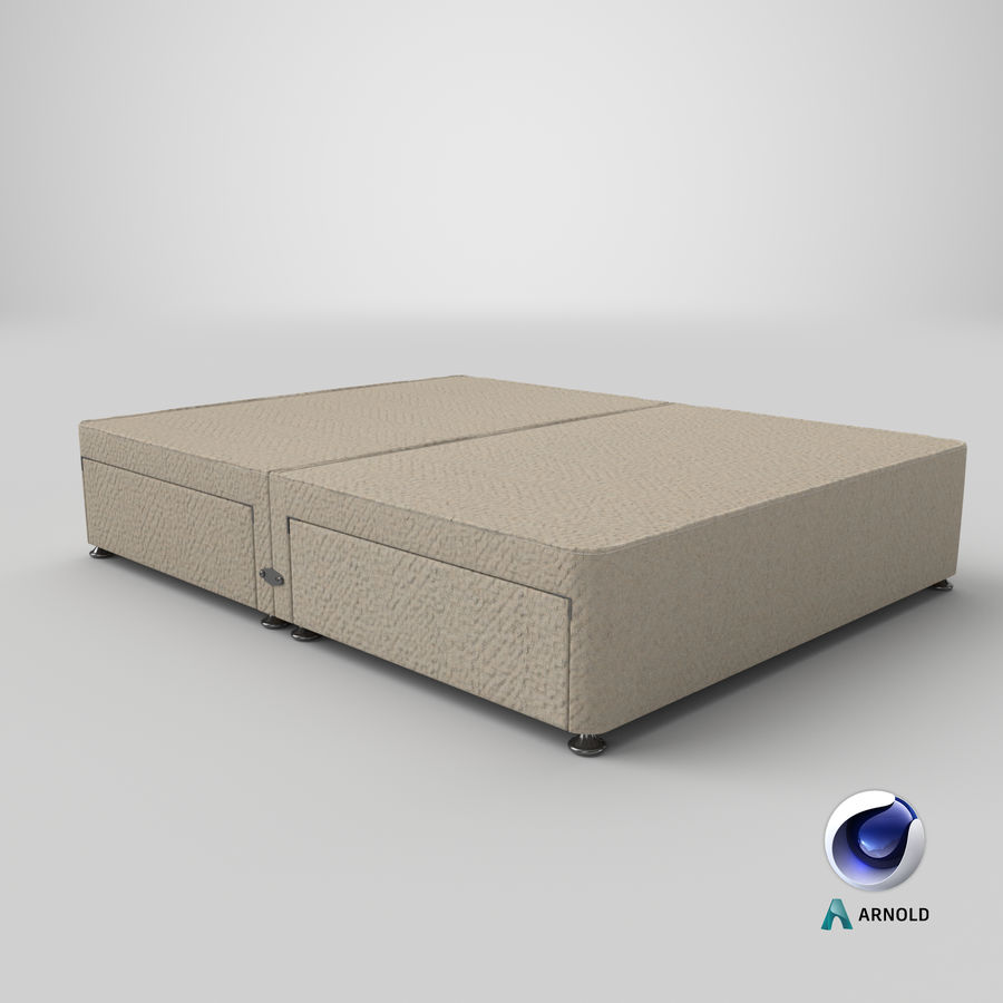 Bed Base 09 Oatmeal royalty-free 3d model - Preview no. 22