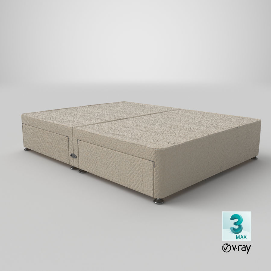 Bed Base 09 Oatmeal royalty-free 3d model - Preview no. 25