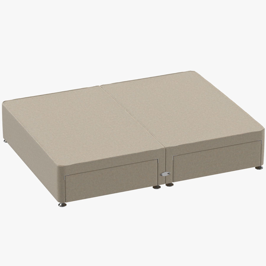 Bed Base 09 Oatmeal royalty-free 3d model - Preview no. 1