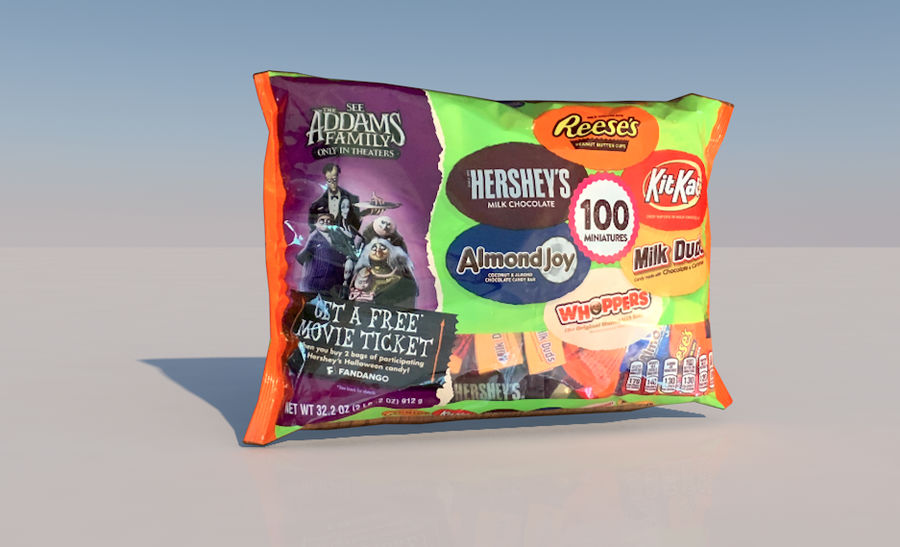 Bag of Candy royalty-free 3d model - Preview no. 1