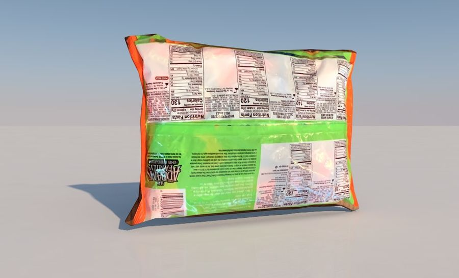 Bag of Candy royalty-free 3d model - Preview no. 3
