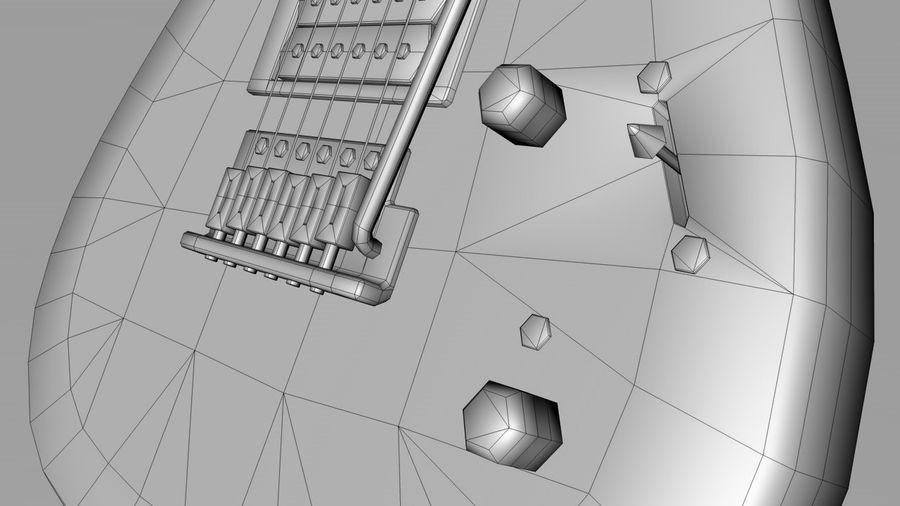 Elgitarr royalty-free 3d model - Preview no. 11