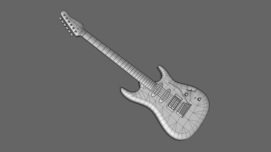 Elgitarr royalty-free 3d model - Preview no. 3