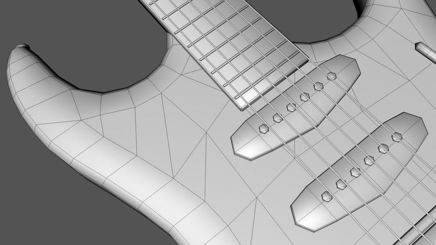Elgitarr royalty-free 3d model - Preview no. 7