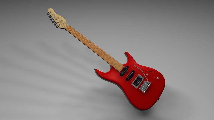 Elgitarr royalty-free 3d model - Preview no. 2