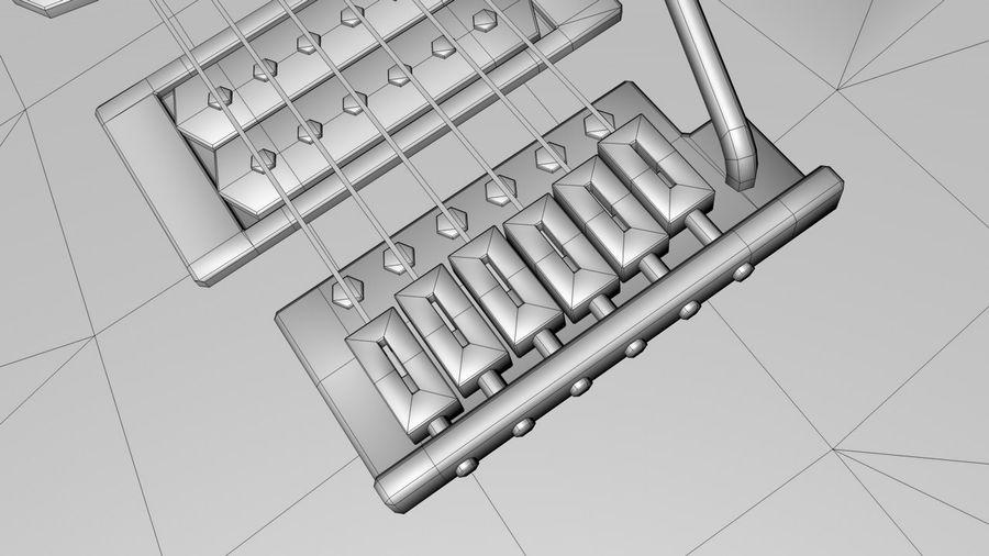 Elgitarr royalty-free 3d model - Preview no. 9