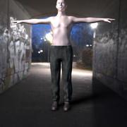 旧脏裤子 3d model