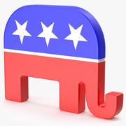 Republican Party Logo 3d model