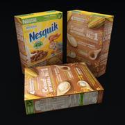 Caja de Cereales Nesquik modelo 3d