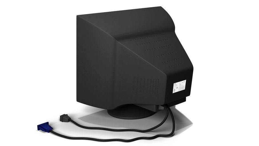 Old PC Monitor royalty-free 3d model - Preview no. 2