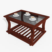 Wooden Teapoy Table 3d model