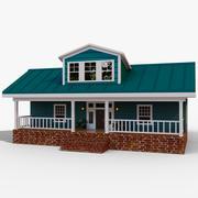 Casa de madera exterior modelo 3d