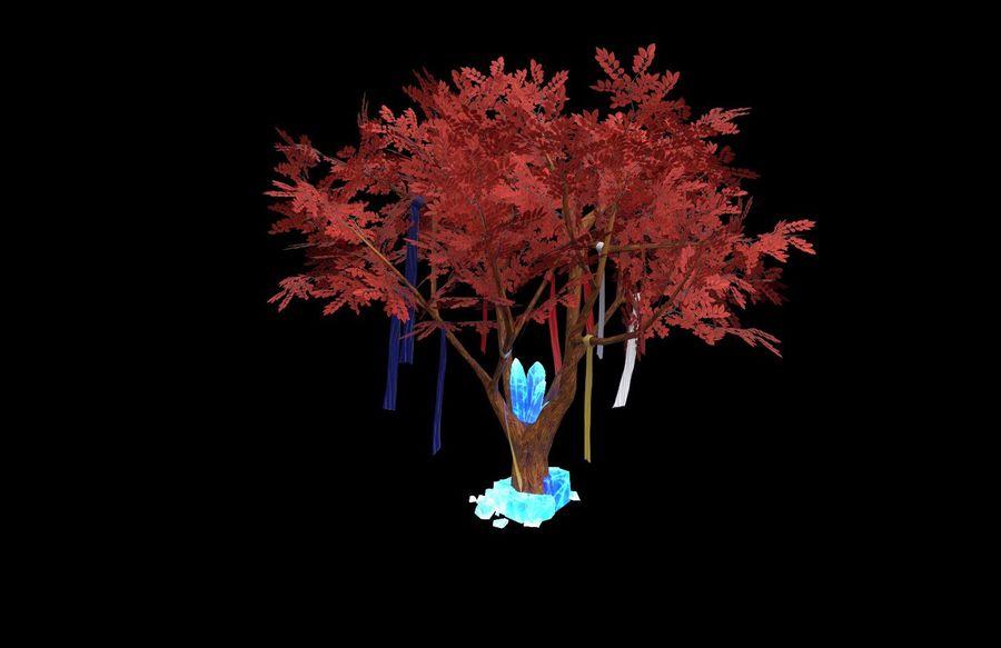 Fantasy tree royalty-free 3d model - Preview no. 4