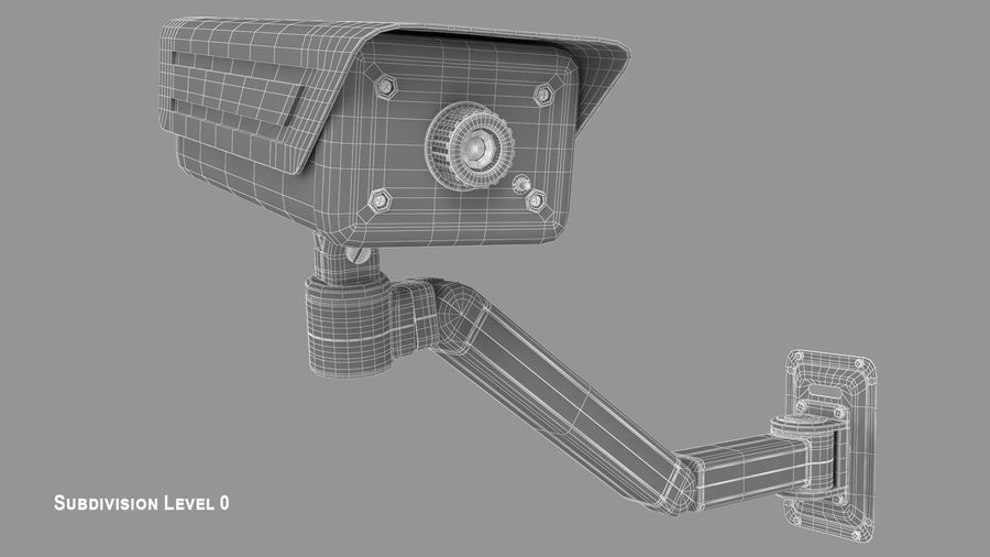 Security Camera royalty-free 3d model - Preview no. 9