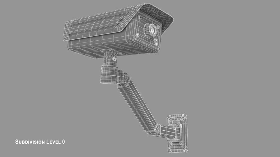 Security Camera royalty-free 3d model - Preview no. 11