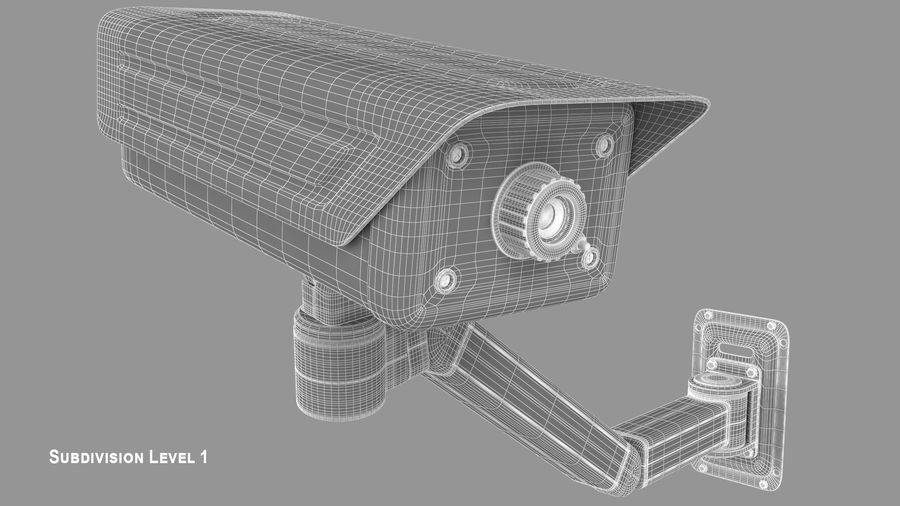 Security Camera royalty-free 3d model - Preview no. 16