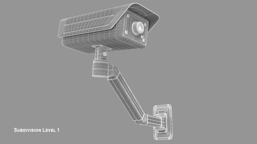 Security Camera royalty-free 3d model - Preview no. 12