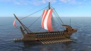 Navio de guerra grego 3d model
