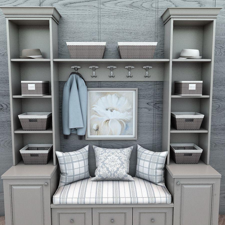 Wiszące krzesła Rohtang, półki na książki, kajaki i rośliny doniczkowe royalty-free 3d model - Preview no. 2
