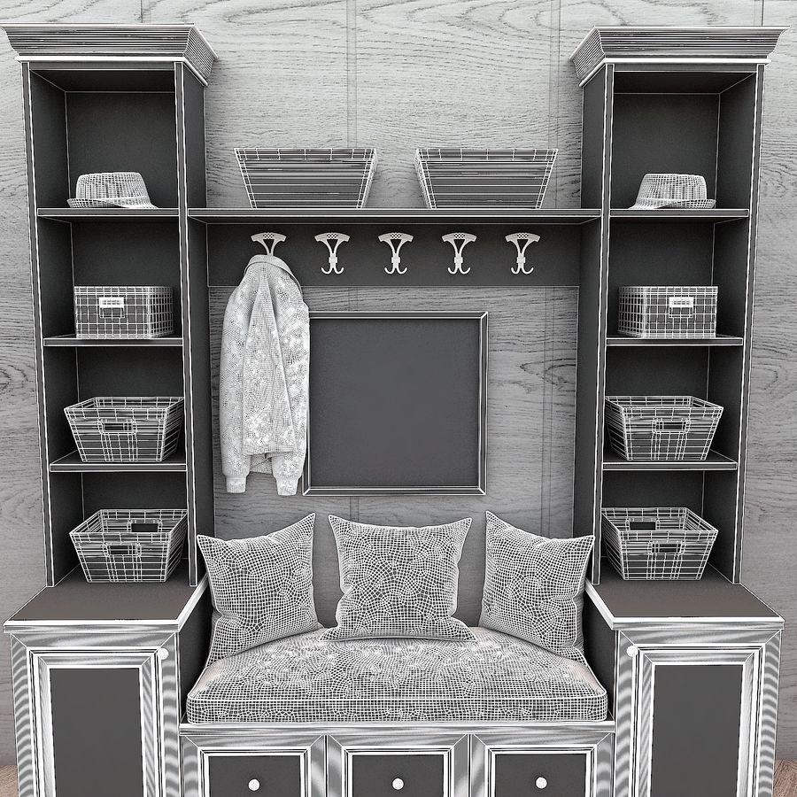Wiszące krzesła Rohtang, półki na książki, kajaki i rośliny doniczkowe royalty-free 3d model - Preview no. 3