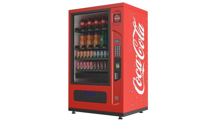 Distributore automatico di cola riempito royalty-free 3d model - Preview no. 4