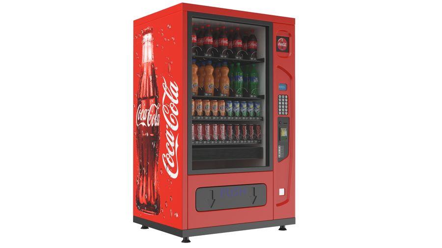 Distributore automatico di cola riempito royalty-free 3d model - Preview no. 2