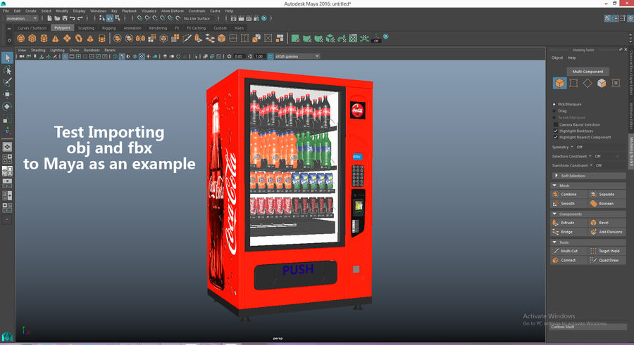 Distributore automatico di cola riempito royalty-free 3d model - Preview no. 22