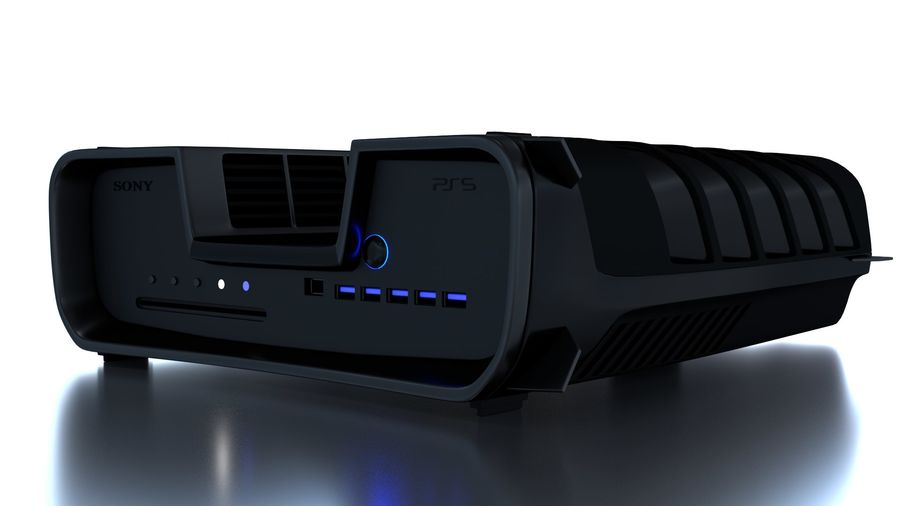 Playstation 5 royalty-free 3d model - Preview no. 3
