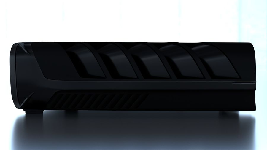 Playstation 5 royalty-free 3d model - Preview no. 4