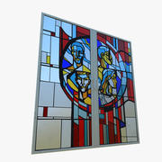 Stained Glass (USSR style) 3d model