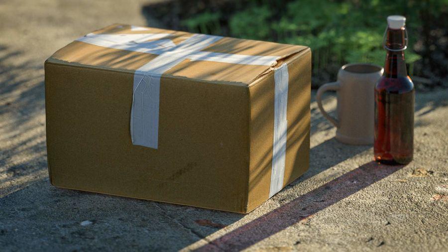 Boîte en carton 01 royalty-free 3d model - Preview no. 14