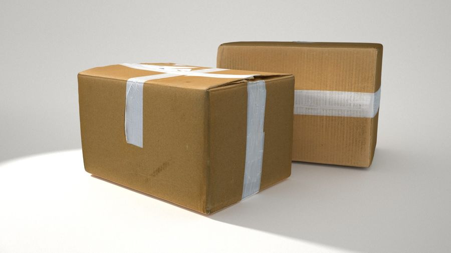 Boîte en carton 01 royalty-free 3d model - Preview no. 5