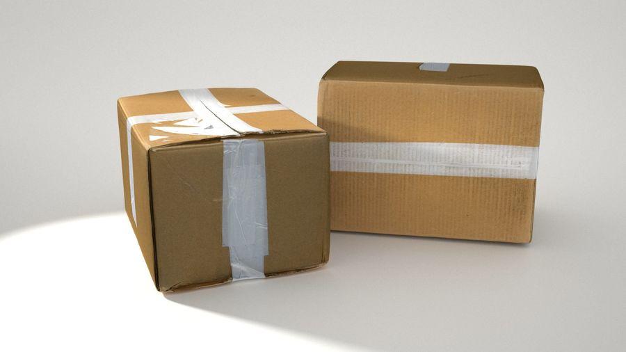 Boîte en carton 01 royalty-free 3d model - Preview no. 6