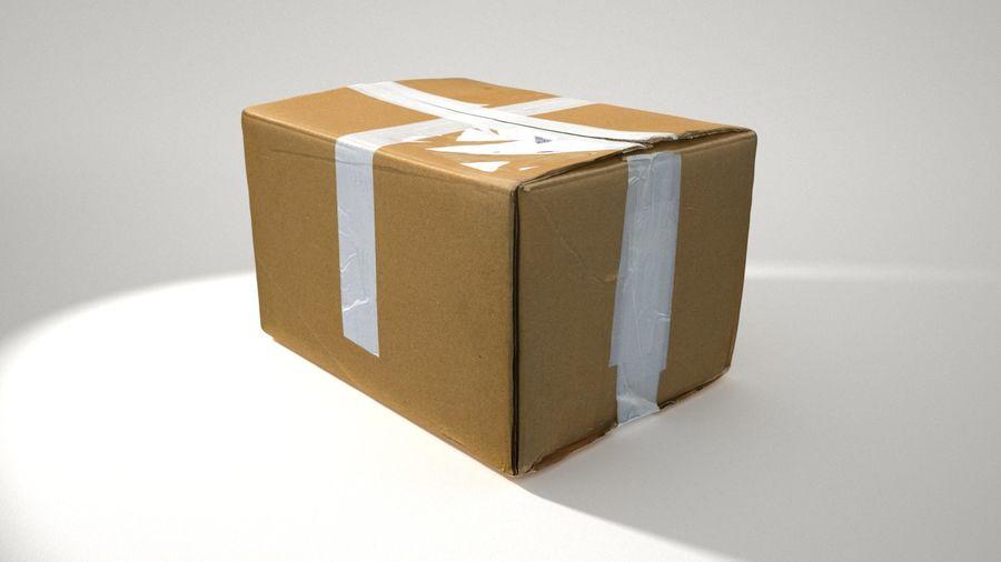 Boîte en carton 01 royalty-free 3d model - Preview no. 4