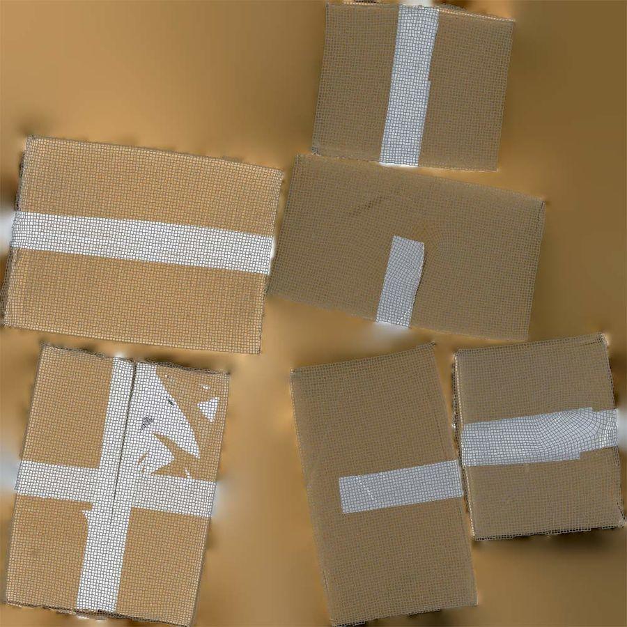 Boîte en carton 01 royalty-free 3d model - Preview no. 13
