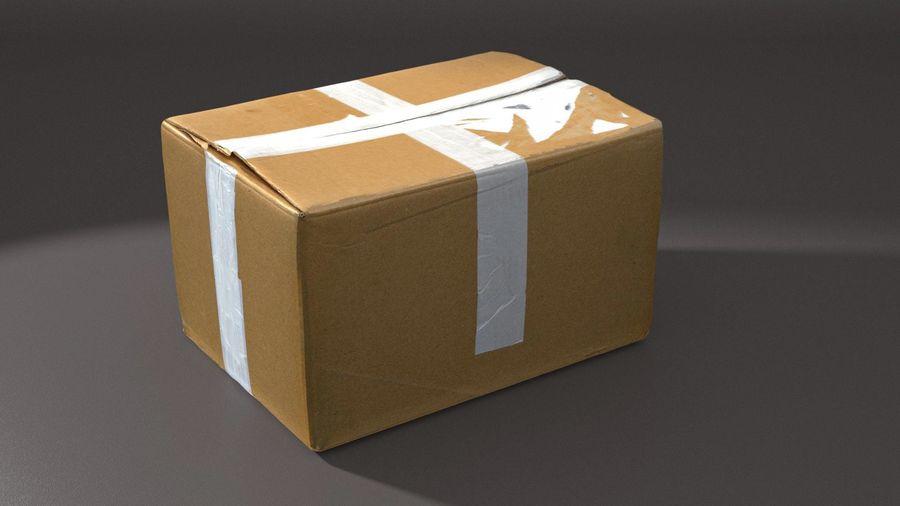 Boîte en carton 01 royalty-free 3d model - Preview no. 8